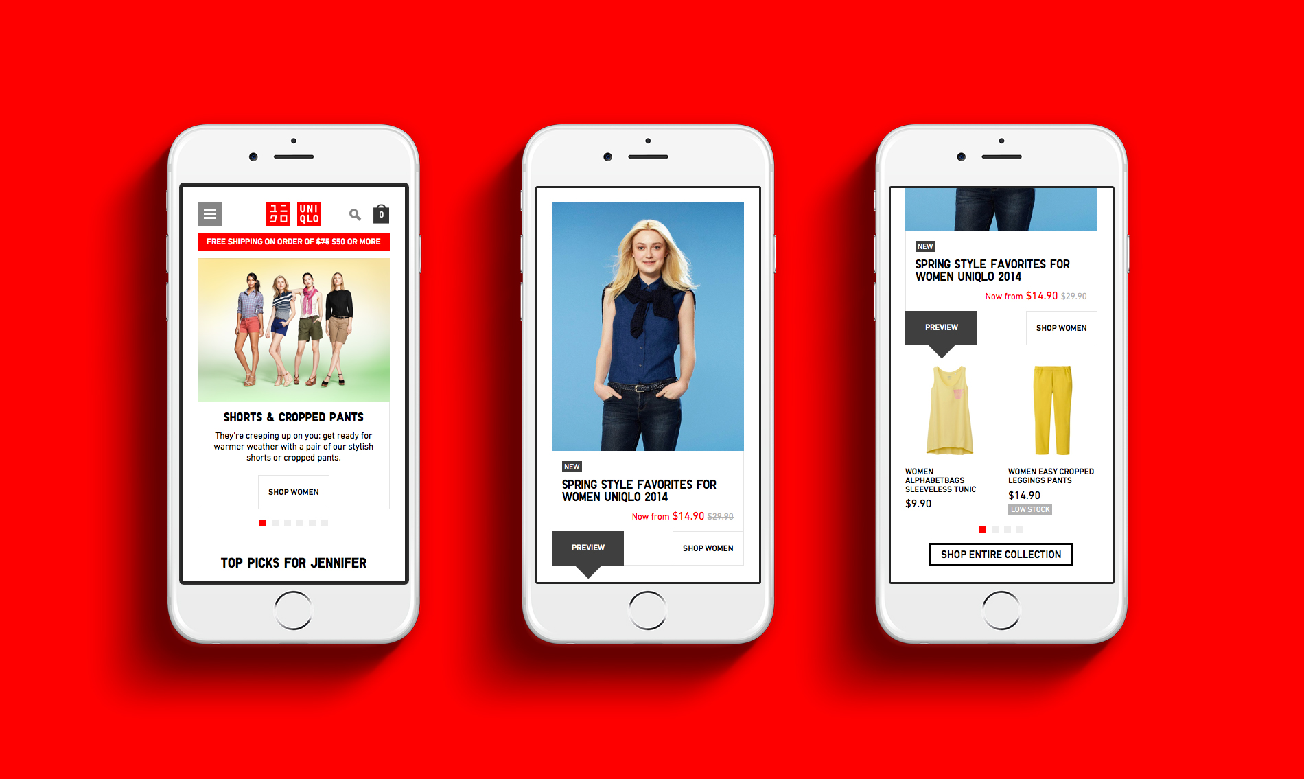 UNIQLO Mobile Home page